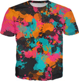 Fiesta Colors Paint Splatter T-Shirt | BigTexFunkadelic