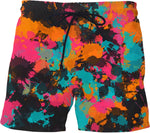 Fiesta Colors Paint Splatter Swim Shorts | BigTexFunkadelic