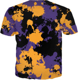 Purple Gold and Black Legends Paint Splatter T-Shirt | BigTexFunkadelic