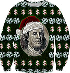 Benjamin's For Christmas Black Ugly Christmas Sweatshirt | BigTexFunkadelic