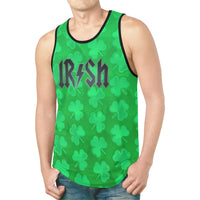 St. Paddy's Day Irish Rockstar AC/DC Parody Logo Relaxed Fit Men's Tank Top - BigTexFunkadelic