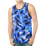 Blue Psychedelic Warp Relaxed Fit Men's Tank Top | BigTexFunkadelic