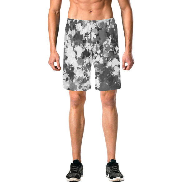 Black and White Graffiti Splatter Casual Shorts | BigTexFunkadelic