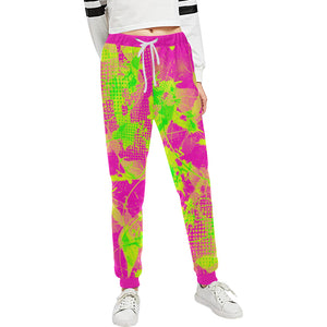 80s Summer Pop Women's All Over Print Jogger Sweatpants | BigTexFunkadelic