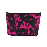 Pink and Black Paint Splatter Bandeau Top