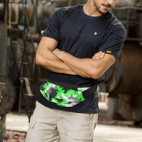 Green Abstract Rave Fanny Pack | BigTexFunkadelic