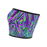Purple Rave Fractal Bandeau Top