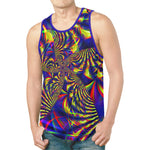 Sunburst Slime Fractal Relaxed Fit Men's Tank Top | BigTexFunkadelic