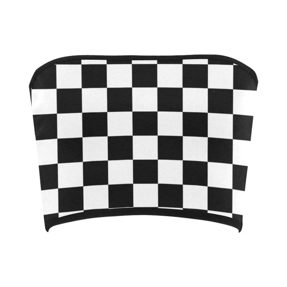 Black and White Checkered Bandeau Top | BigTexFunkadelic