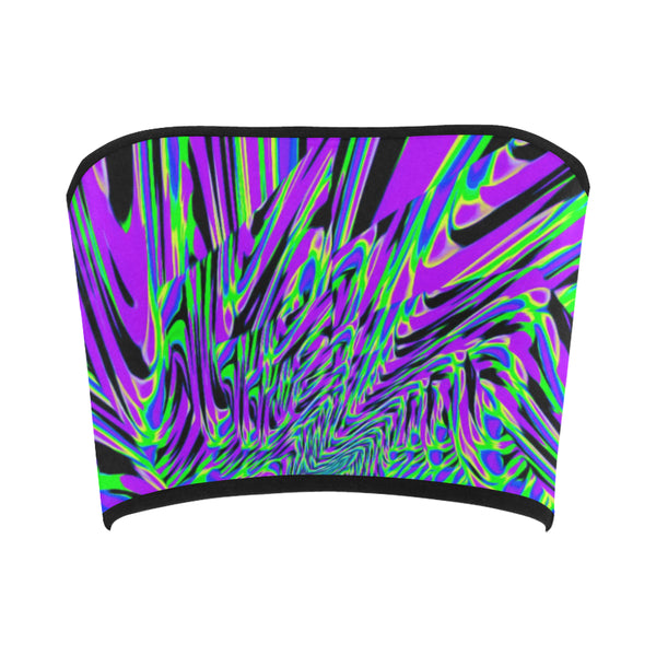 Purple Rave Fractal Bandeau Top | EDM Festival Fashion | BigTexFunkadelic