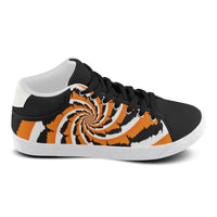 Tiger Stripe Fractal Men's Chukka Canvas Shoes