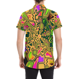 90s Colorsplash Button Down Short Sleeve Shirt | BigTexFunkadelic