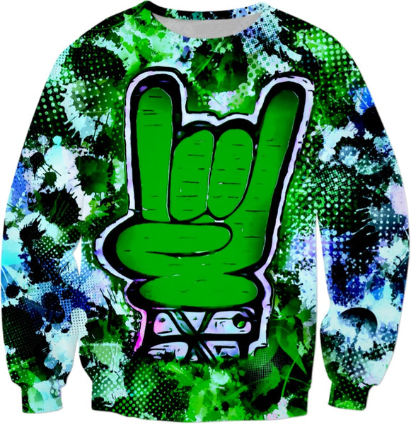Rock On Alternative Green Sweatshirt