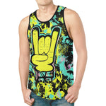 Rock On Hand Pop Art Relaxed Fit Men's Tank Top | BigTexFunkadelic