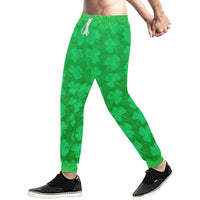 St. Patrick's Day Clovers Men's All Over Print Jogger Sweatpants
