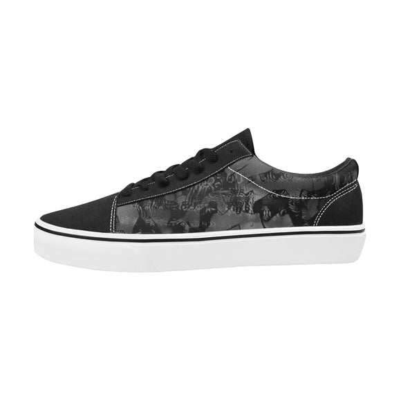 Streetart In The Shadows Men's Low Top Skateboarding Shoes | BigTexFunkadelic