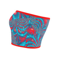 Tropical Fractal Burst Bandeau Top