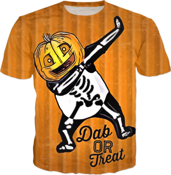 Dab Or Treat All Over Print Halloween T-Shirt | BigTexFunkadelic
