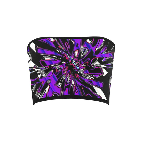 Purple Hypnotic Chrome Bandeau Top | BigTexFunkadelic