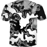 Trippy Alien Camo All Over Print T-Shirt