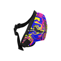 Blue Oil Spill Psychedelic Fanny Pack | Festival Fashion | BigTexFunkadelic