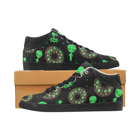 Alien Space Donut Men's Chukka Sneakers