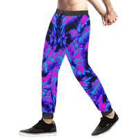 Fluorescent 80s EDM Blacklight Men's All Over Print Sweatpants - BigTexFunakdelic