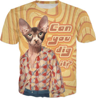 Can You Dig It? - 70s Cat T-Shirt