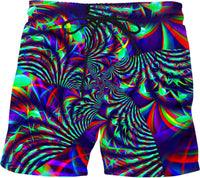 Slime Burst Fractal Swim Shorts