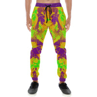 Color Splat Abstract Men's All Over Print Jogger Sweatpants - BigTexFunkadelic