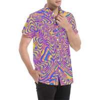 Psychedelic Slam Button Down Short Sleeve Shirt | BigTexFunkadelic