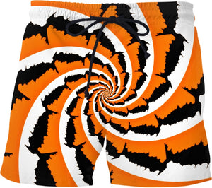 Tiger Stripe Fractal Swim Shorts