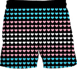 Trans Pride Heart Swim Shorts
