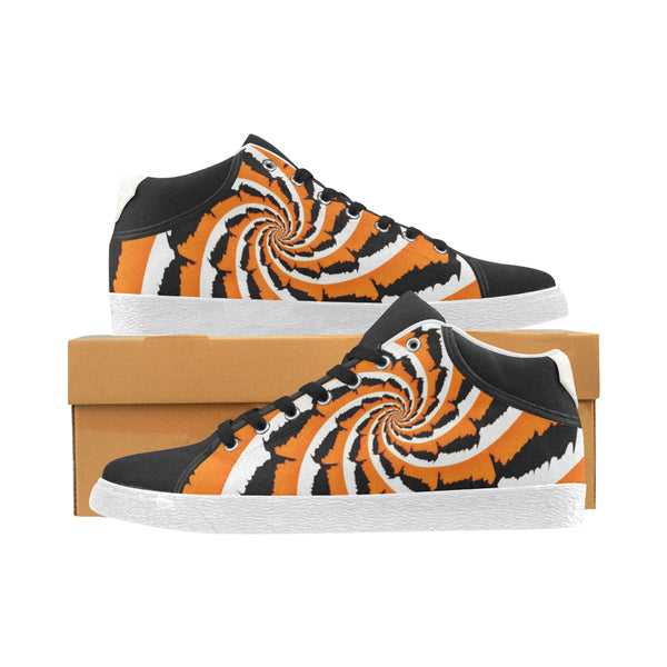 Tiger Stripe Fractal Men's Chukka Canvas Shoes | BigTexFunkadelic