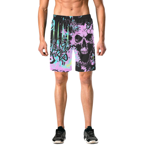Alternative Skull Graffiti Casual Shorts