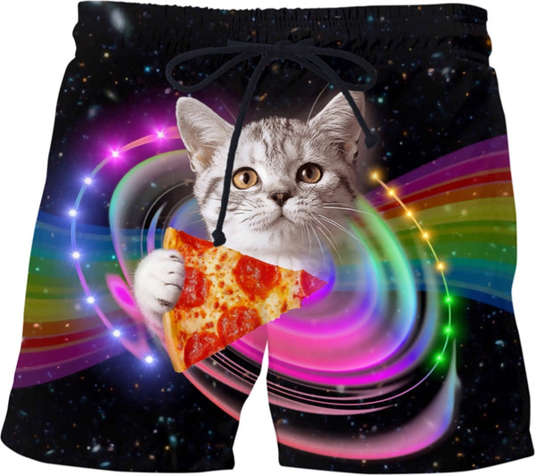 Pizza Cat Swim Shorts - BigTexFunkadelic
