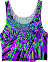 Purple Rave Fractal Crop Top | EDM Festival Fashion | BigTexFunkadelic