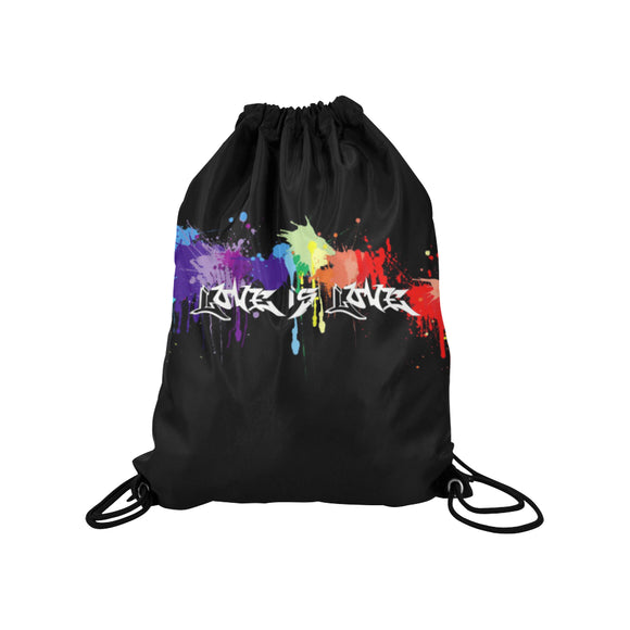 Love is Love Gay Pride Drawstring Bag | LGBTQ+ Pride | BigTexFunkadelic