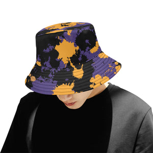 Purple Gold and Black Legends Paint Splatter Bucket Hat | BigTexFunkadelic