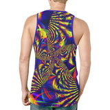 Sunburst Slime Fractal Relaxed Fit Men's Tank Top