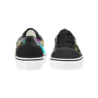 Psychedelic Paint Drop Men's Low Top Skateboarding Shoes
