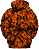 Orange Grunge Money Hoodie