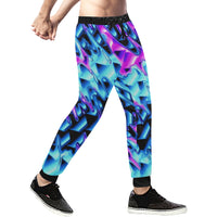 Psychedelic Vaporwave Men's All Over Print Jogger Sweatpants | BigTexFunkadelic