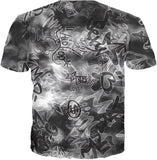 Life's A Mixtape Black and White All Over Print Graffiti T-Shirt