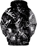 Black And White Graffiti Hoodie