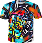 Streetart Chaos All Over Print Graffiti T-Shirt | BigTexFunkadelic