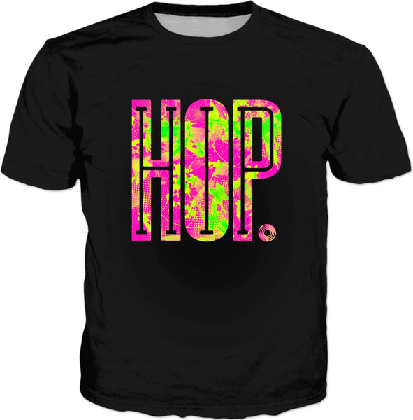 Hip-Hop Pop Art Black Graphic Tee | BigTexFunkadelic
