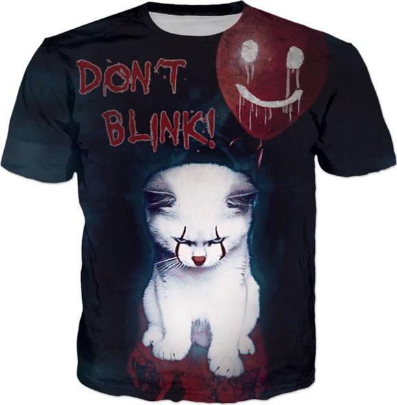 Penny The Horror Cat All Over Print T-Shirt | BigTexFunkadelic