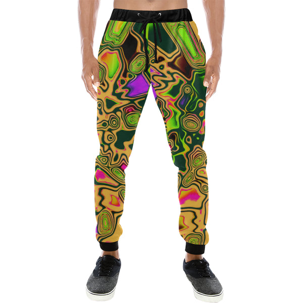 90s Color Splash Men's All Over Print Sweatpants - BigTexFunkadelic