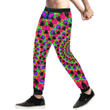Neon Kaleidoscope Mandala Men's All Over Print Sweatpants